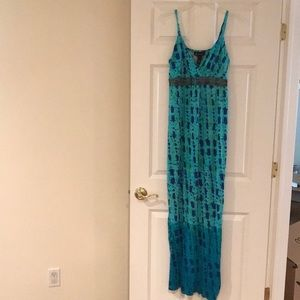 INC Cotton long dress tie-dye size large
